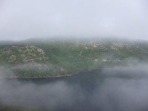 Fog on Jordan Pond