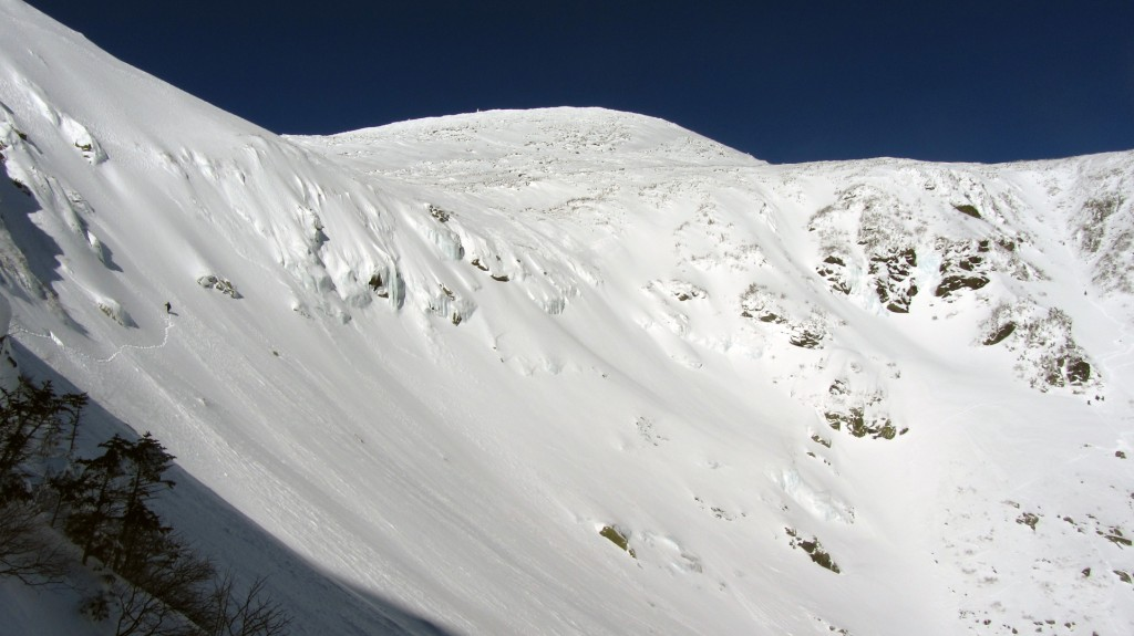 Looking across the bowl to the summit.